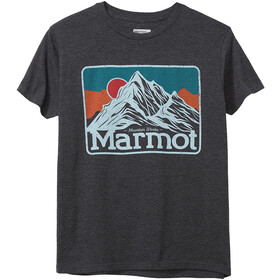 Marmot Mountain Peaks Camiseta Manga Corta Hombre, charcoal heather